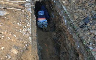 Čištění ucpané kanalizace u rodinného domu